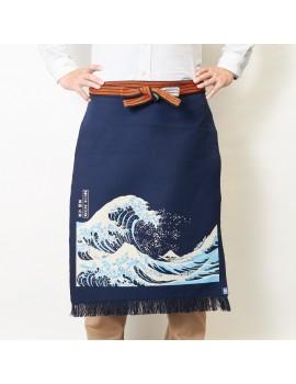 """""""MAEKAKE"""" - Grembiule Giapponese Kanagawa Hokusai - Maekake Apron - Made In Japan"""