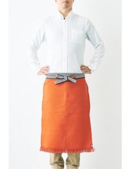"""MAEKAKE"" - Grembiule Giapponese Arancio con doppia tasca frontale - Maekake Apron - Made In Japan"