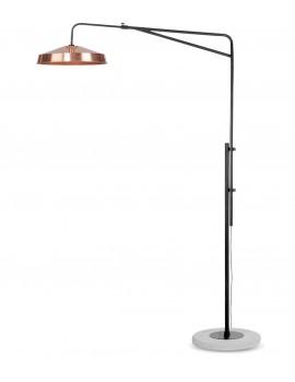 LAMPADA DA TERRA IN FERRO CON BASE IN CEMENTO - RAME
