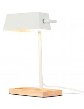 Lampada da tavolo in LEGNO E ferro BIANCO
