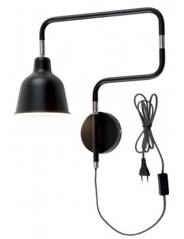 LAMPADA DA PARETE IN FERRO NERO - LONDON TUBE