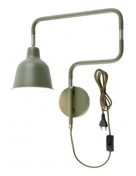 LAMPADA DA PARETE IN FERRO VERDE - LONDON TUBE