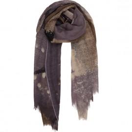 Sciarpa di lana con paesaggio stampata a mano - Kissed By The Rain
