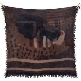 Sciarpa di lana grossa stampata a mano con disegno Handmarks - Handmarks