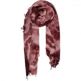 Sciarpa di pura Lana pesante con effetto sfumato rosso vino - Milky way