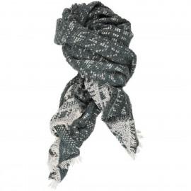 Sciarpa di Lana Mohair e cotone con stampa Etnica - Graphic Way