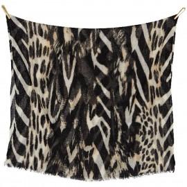 Sciarpa di Lana Fine con stampa Tigrata - Inner Tiger
