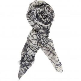 Sciarpa di Lana e Viscosa con stampa Reptile - Reptile