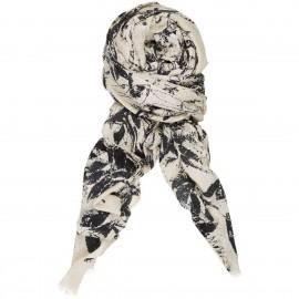 Sciarpa di Lino e Cotone con stampa Floreale - Fall Symmetry