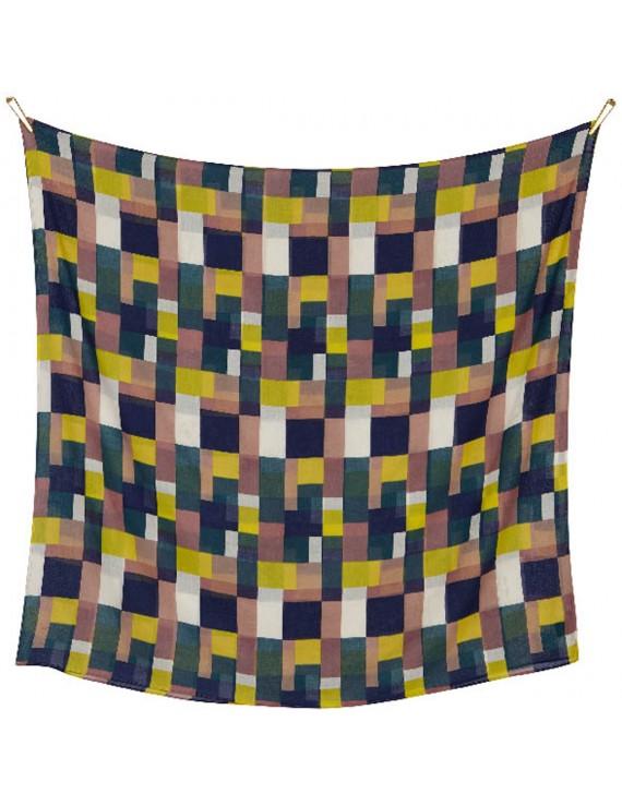 Sciarpa di Cotone con stampa Geometrica - Squared