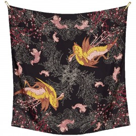 Sciarpa di seta Twill stampata a mano - Japan Blossom