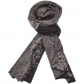 Sciarpa di lana Kid Mohair e lana con stampa Floreale - Flower Me Softly