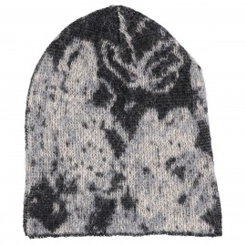 Cappello di lana Kid Mohair e lana con stampa Floreale - Flower Me Softly Hood