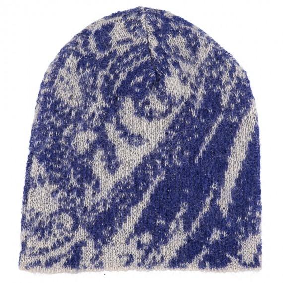 Cappello di lana Kid Mohair e lana con stampa Floreale - Soft Touch Hood