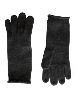 Guanti Neri e di lana Kid Mohair e lana - Solid Knitted Gloves