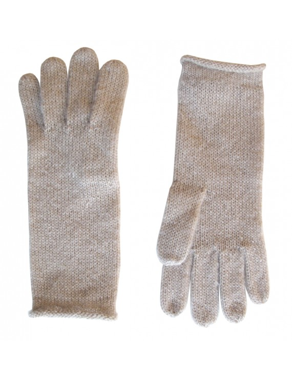 Guanti di lana Kid Mohair e lana - Solid Knitted Gloves