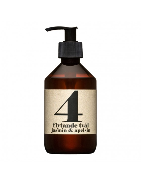 Sapone biologico liquido 300 ml - N 4 Gelsomino & Arancio