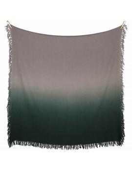 Sciarpa di pura Lana con effetto sfumato Verde e grigio - Dip It