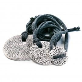 Bracciale con elemento in Porcellana e maglina - artigianale - Made in Italy - Jersey Bracelet
