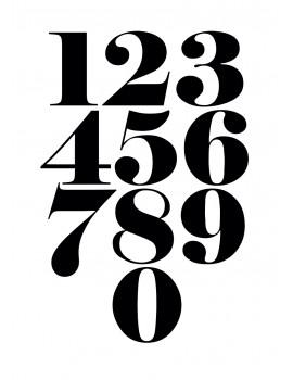 """Stampa artistica della collezione """"typography"""" di Terrible Twins - POSTER 30X40cm"""