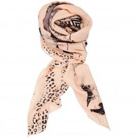 Sciarpa di seta Crêpe de Chine stampata a mano - CPH (Copenaghen)