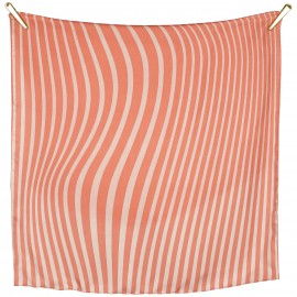SCIARPA IN TWILL DI SETA STAMPA GESSATA - Funky Stripes